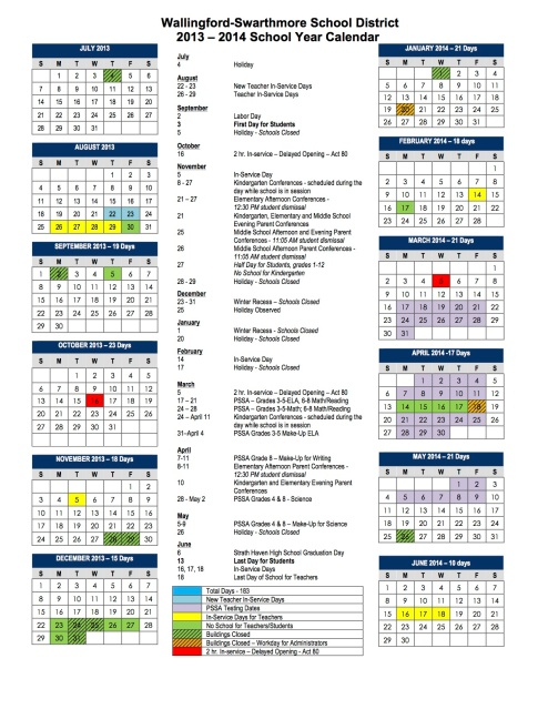 2013 2014 School Calendar