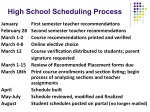 High School Scheduling Process