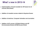 What's new in 2013-14
