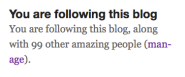 100 blog followers