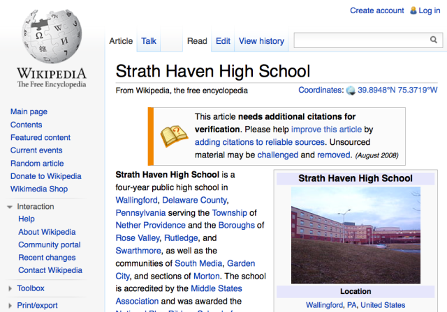 Strath Haven High School wikipedia