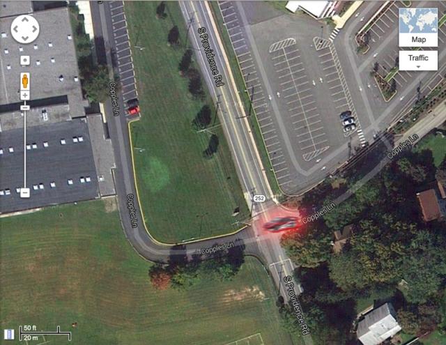 Copples Lane near Strath Haven High School