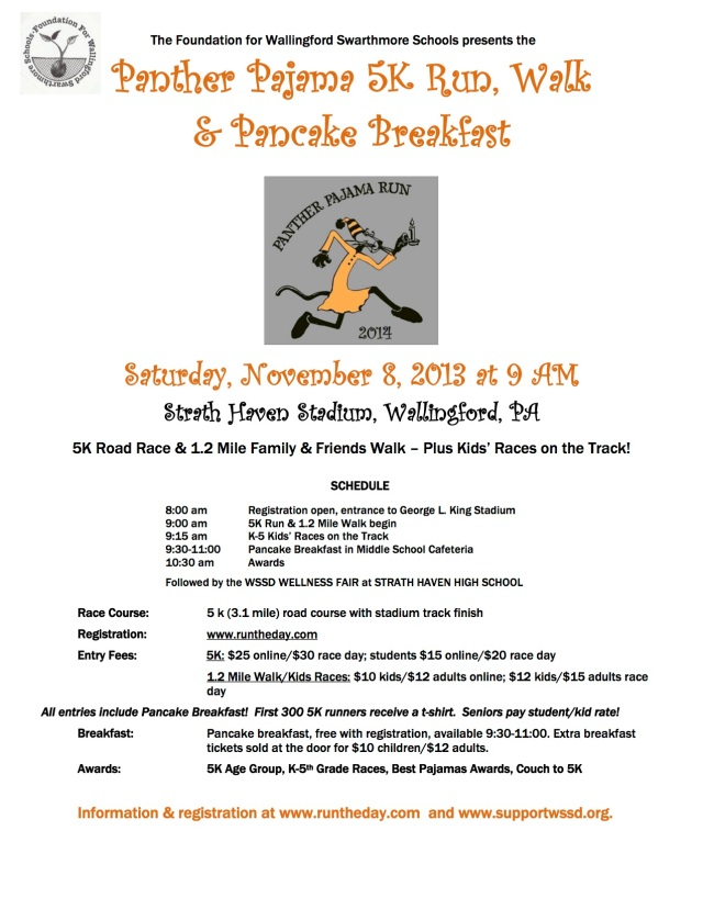 2014 Panther Pajama Run Flyer