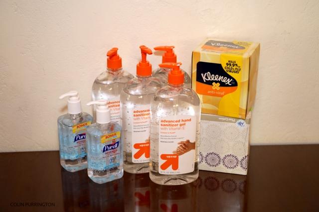 tissues-hand-sanitizer