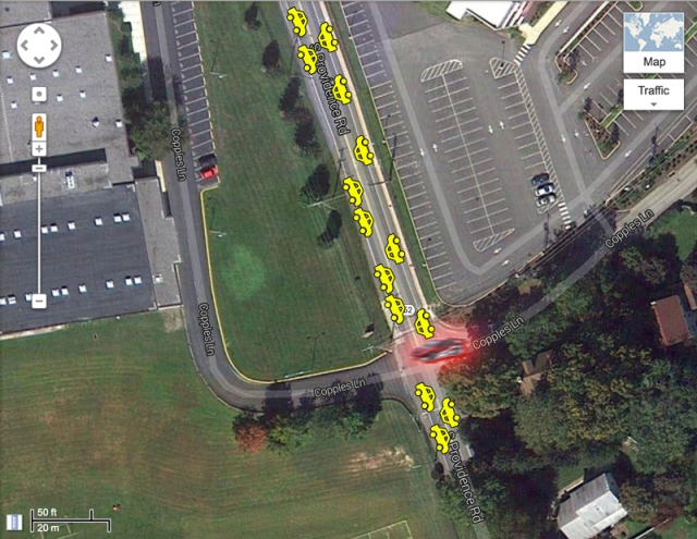 Darting across S Providence Road