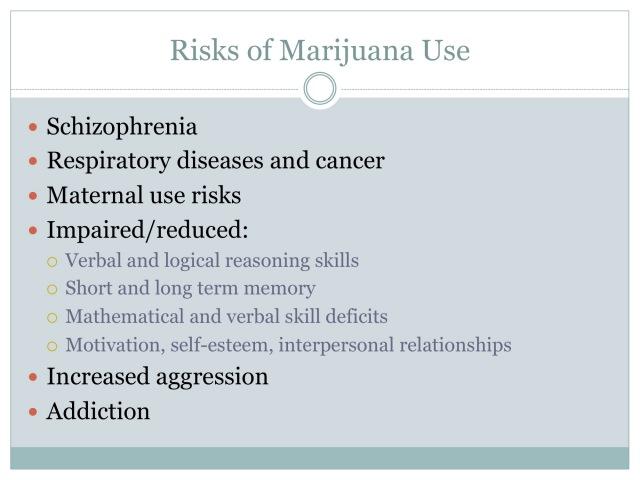 Risks of Marijuana Use