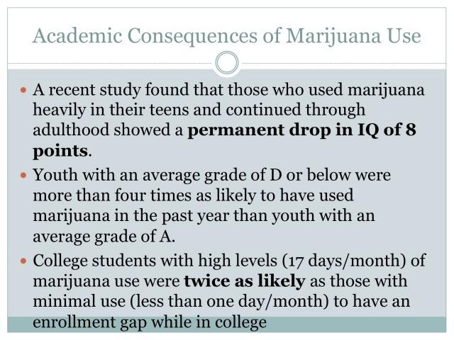 Academic Consequences of Marijuana Use