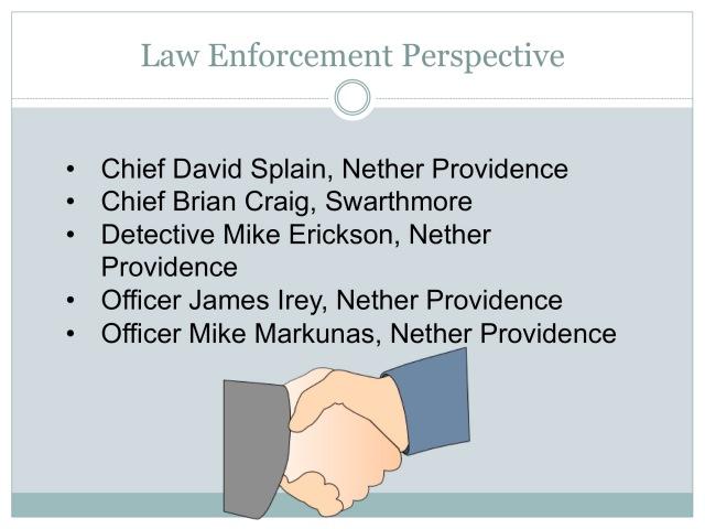Law Enforcement Perspective
