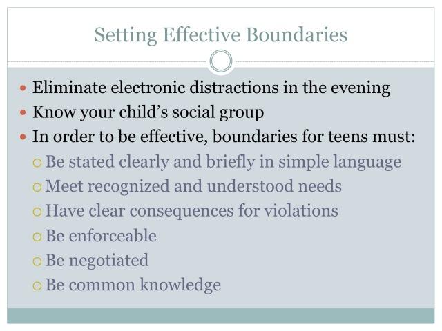 Setting Effective Boundaries